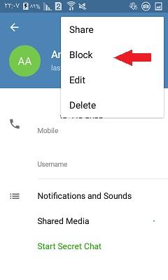 آموزش کامل بلاک کردن مخاطبین در تلگرام + تصاویر