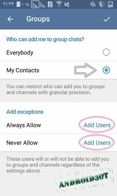 آموزش کامل تنظیمات گروه و کانال در تلگرام + تصاویر
