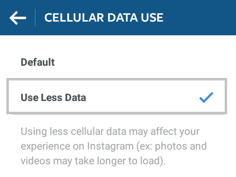 مدیریت حجم اینترنت هنگام دانلود فیلم در اینستاگرام + تصاویر
