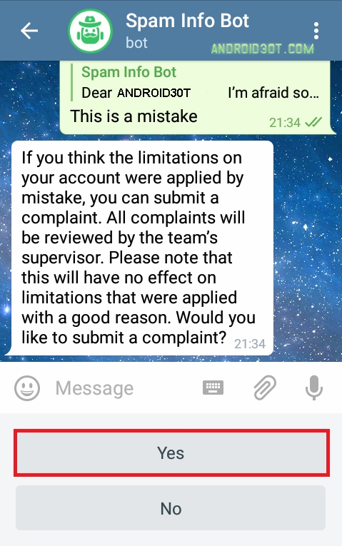 جدیدترین روش خروج از ریپورت تلگرام + آموزش تصویری