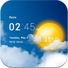 دانلود Transparent clock & weather