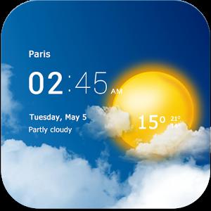 دانلود Transparent clock weather Pro 1.41.01 – تشخیص آب و هوا برای اندروید