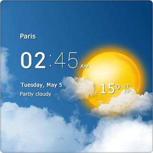 دانلود Transparent clock weather Pro 0.99.11.10 – تشخیص آب و هوا برای اندروید